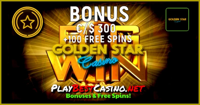 Golden Star Casino (2020) Deposit Bonus € 300 And Review is in the photo.