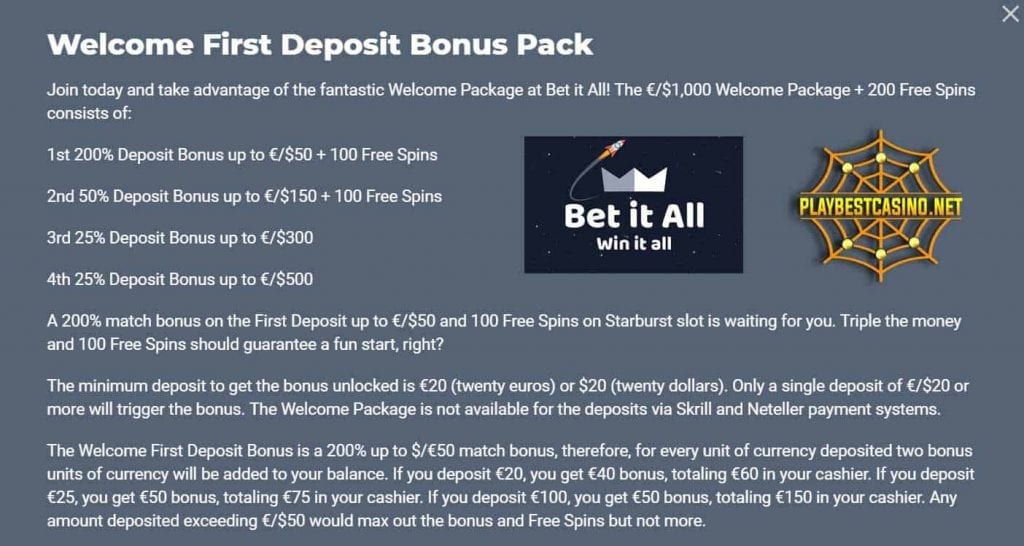 Betitall bonuses can be seen in this image.
