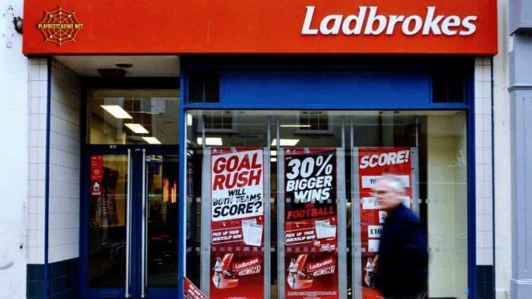 Ladbrokes betting in England can be seen in this image.