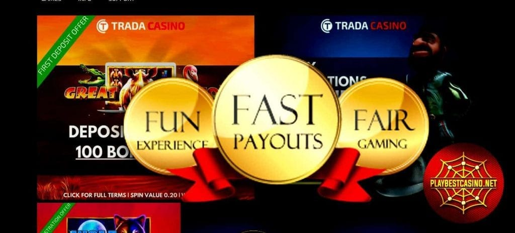 Trada casino fast payouts can be seen in this image!