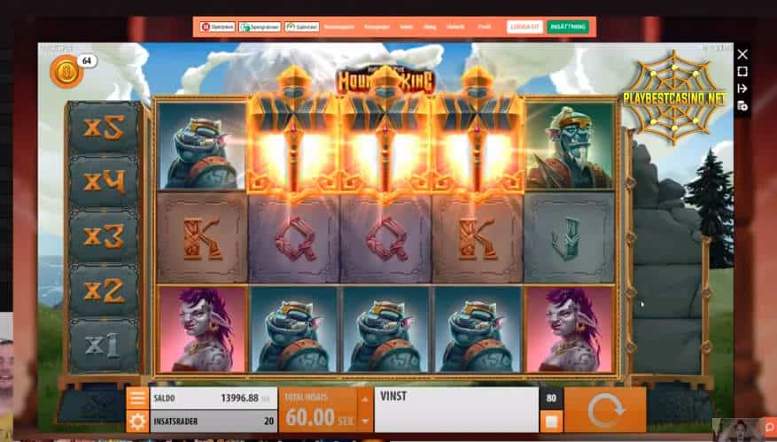 HALL OF THE MOUNTAIN KING bonus game mode can be seen in this image. Brnus game mode is presented in this photo.