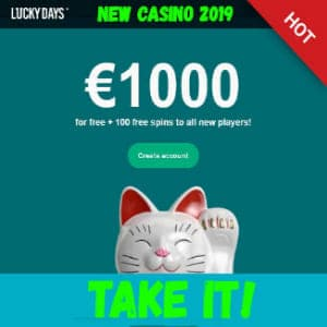 Lucky Days Casino Playbestcasino.net presented in the picture.
