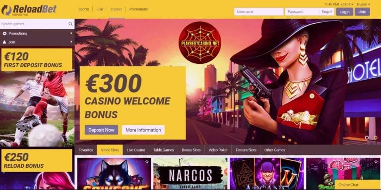 ReloadBet.com review and bonus for playbestcasino.net presented in this picture.