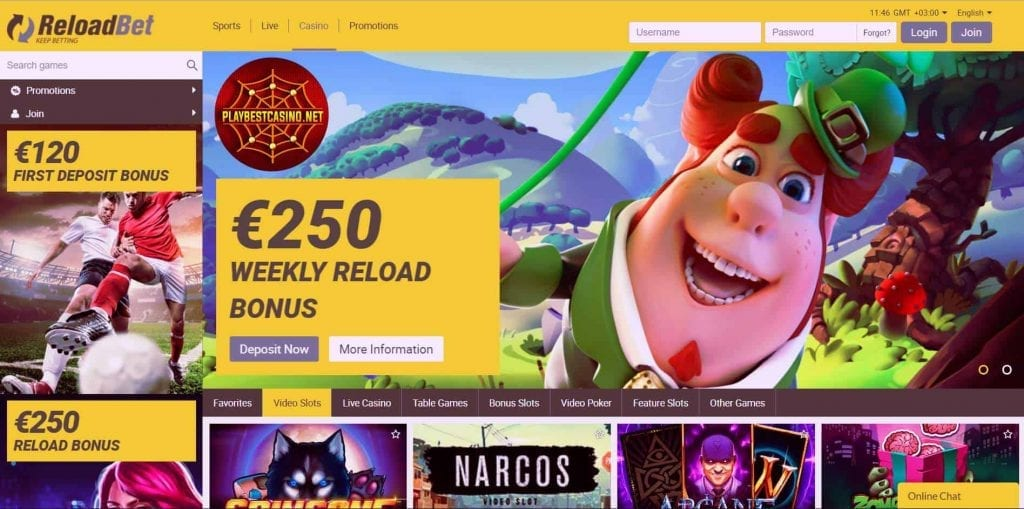 ReloadBet.com for Playbestcasino.net depicted here.