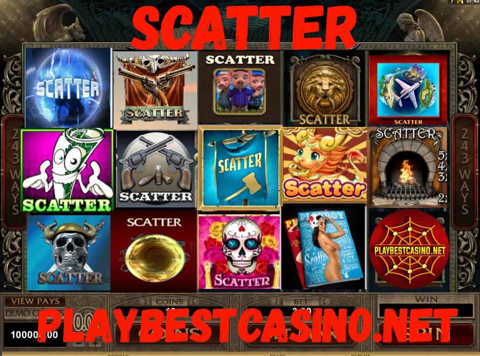 Scatter symbol in an online casino.