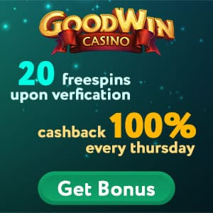 Goodwin casino free spins banner for playbestcasino.net can be seen in this image.