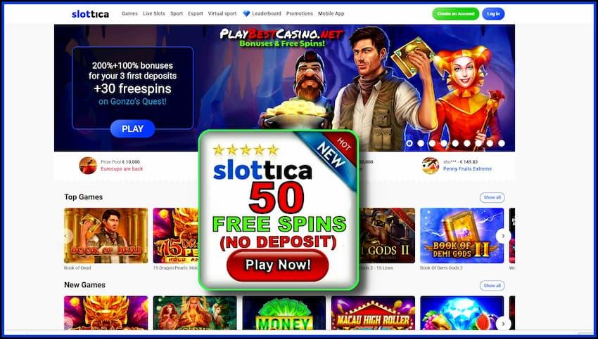 Slottica Казино Забери Вращения Без Депозита (20) + Бонусы есть на фото.
