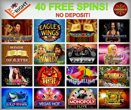All Right Casino: 40 Free Spins for New Players can be seen here!