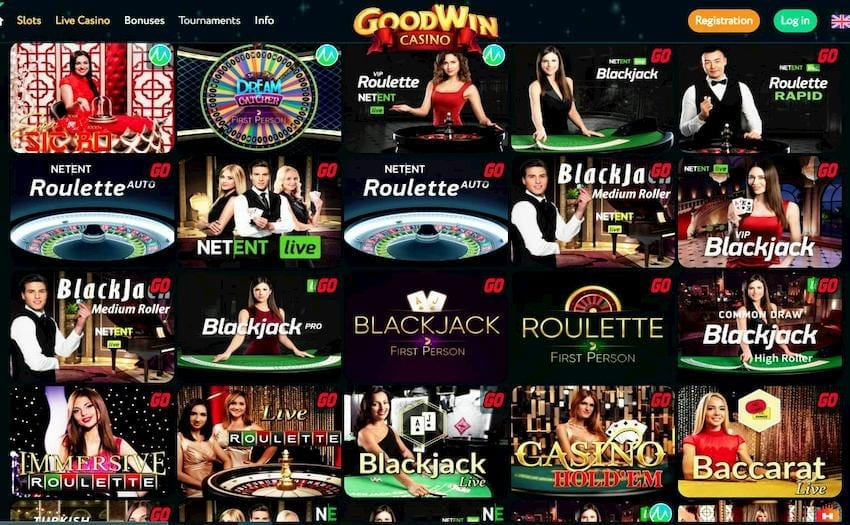Goodwin casino (Live) can be seen on this image.