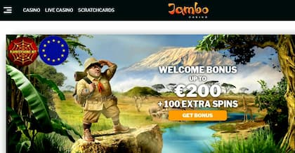 Jambo Casino (New 2019): Get €200+100FS Welcome Bonus you can see here.