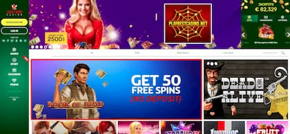 Lucky Bird Casino 50 Free Spins (No Deposit) is on this photo.