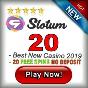 Slotum casino 20 free spins bonus can be seen on this image.
