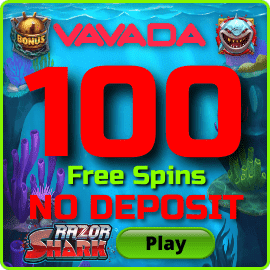 100 Free Spins no deposit at Vavada Casino is in the photo.