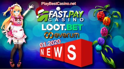 PlayBestCasino.net (2020) Новости Fastpay, Loot.bet, Everum есть на фото.