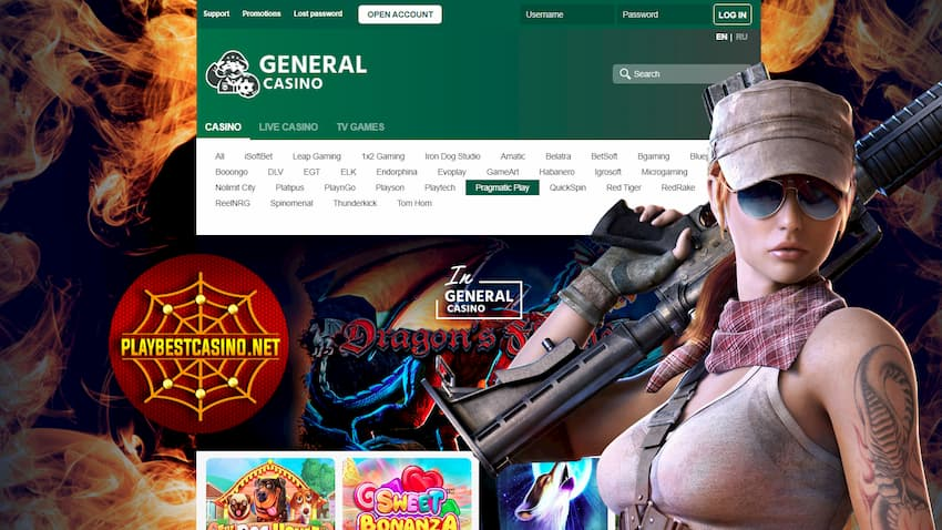 General Casino General Bonus, Cashback and Differences from Others are in the photo.
