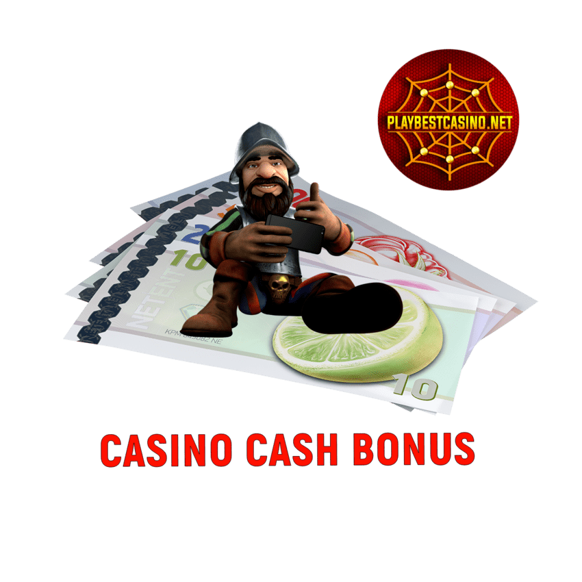 Casino Cash Bonus for Playbestcasino.net is on photo.