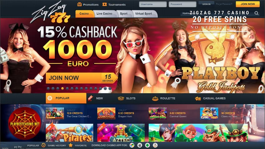 The cashback in the Zig Zag 777 casino is in the photo.