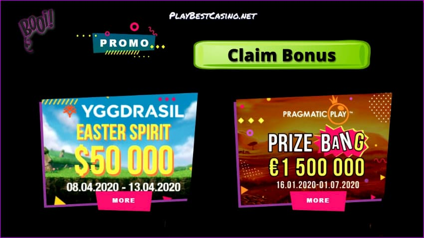 Special Tournaments in Booi Casino is on photo.