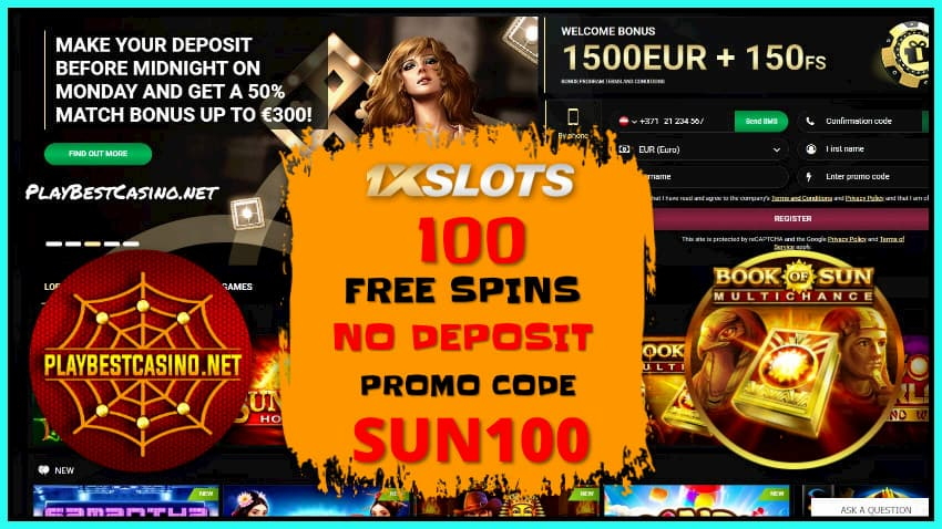 Homepage at Casino 1XSLOTS there is a photo.