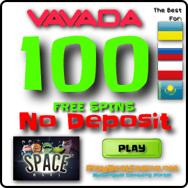 100 Free Spins Bonus in Vavada Casino for PlayBestCasino.net are on this image.