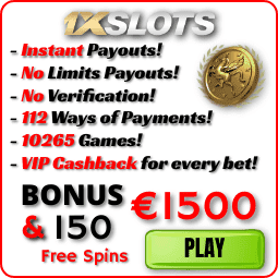 1XSLOTS Casino All Bonusses Logo for PlayBestCasino.net is on photo.
