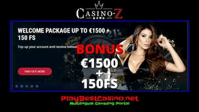 Casino-Z There is a review and a deposit bonus in this photo