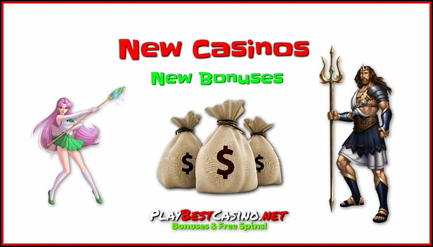 New Casino (2020-2019) And New Online Bonuses are in the photo.
