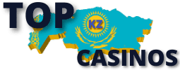 TOP KZ CASINOS are on photo.