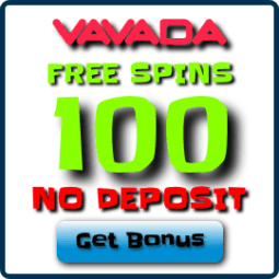 Vavada Casino 100 free spins no deposit bonus is on photo.